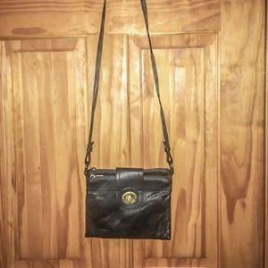 Crossbody bag black faux leather